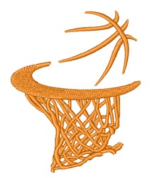 Basketball Goal embroidery design