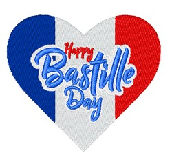 Bastille Day embroidery design