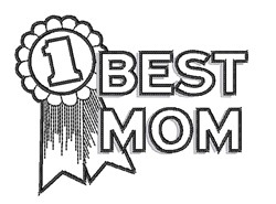 Best Mom embroidery design