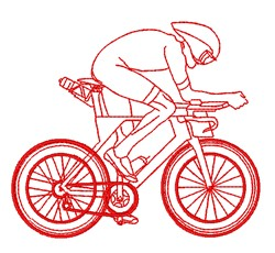 Redwork Cyclist embroidery design