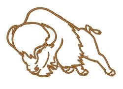 Buffalo Outline embroidery design