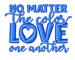 Love One Another embroidery design
