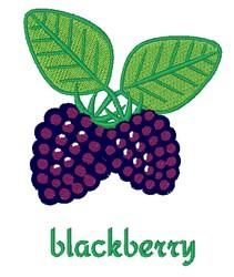 Blackberry embroidery design