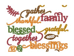 Grateful Blessings embroidery design