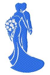 Wedding Silhouete embroidery design