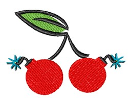 Cherry Bombs embroidery design