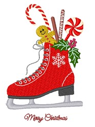 Christmas Skate embroidery design