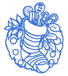 Stocking Outline embroidery design