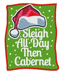 Sleigh All Day embroidery design