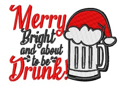 Merry Drunk embroidery design