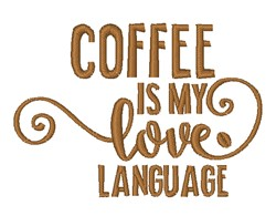 Love Language embroidery design