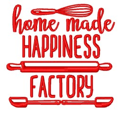 Happiness Factory embroidery design