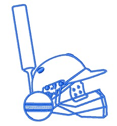 Cricket Equipement embroidery design