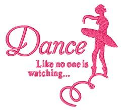 Dance embroidery design