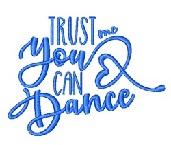 You Can Dance embroidery design