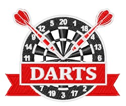 Dart Game embroidery design