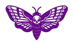 Death Head Moth embroidery design