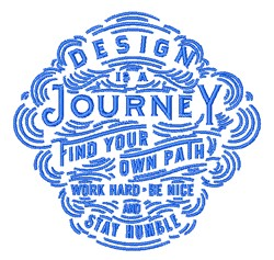 Design Is Journey embroidery design