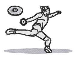 Discus Thrower embroidery design