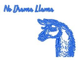 No Drama Llama embroidery design