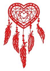 Heart Dreamcatcher embroidery design