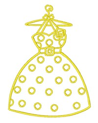 Dress Outline embroidery design