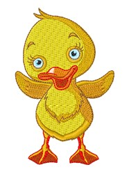 Duckling embroidery design