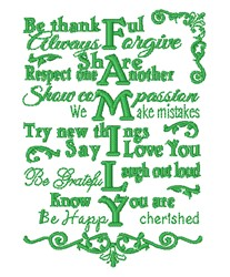 Family Anagram embroidery design