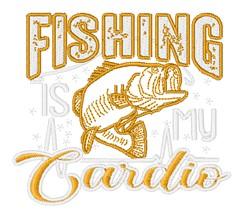 Fishing Cardio embroidery design