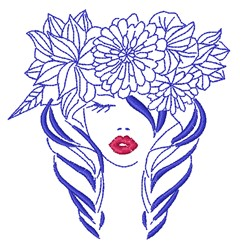 Flower Lady embroidery design