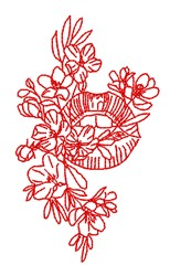 Mouth Flowers embroidery design