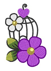 Birdcage Flowers embroidery design