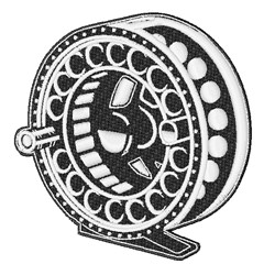 Reel embroidery design
