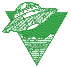 Flying Saucer embroidery design