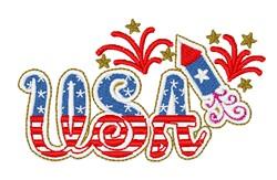 USA Rocket embroidery design