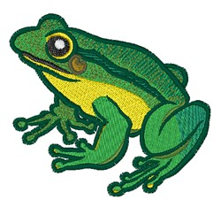 Green Frog embroidery design