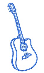 Guitar Outline embroidery design