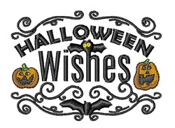 Halloween Wishes embroidery design