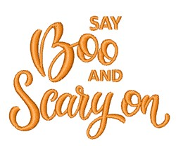 Say Boo embroidery design