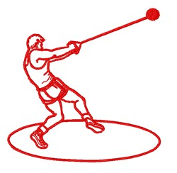 Hammer Throw embroidery design