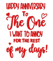 Happy Anniversary embroidery design