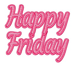 Happy Friday embroidery design
