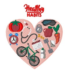 Healthy Habits embroidery design