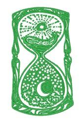 Celestial Hour Glass embroidery design