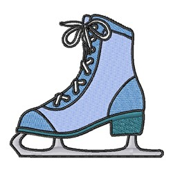 Blue Ice Skate embroidery design