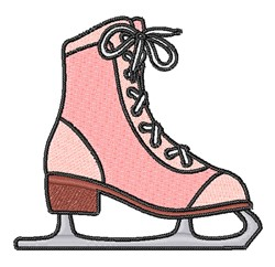 Pink Ice Skate embroidery design