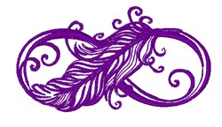 Infinity Symbol & Feather embroidery design