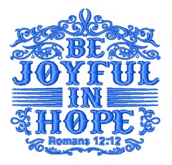 Be Joyful In Hope embroidery design