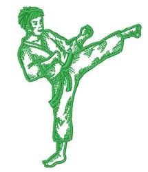 Karate Boy Outline embroidery design