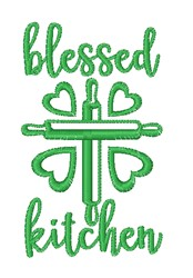 Blessed Kitchen embroidery design